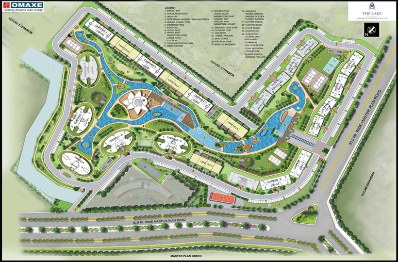 The lake omaxe site layout mullanpur new chandigarh