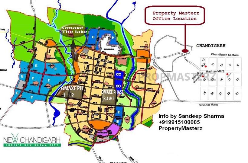 Omaxe The lake Location new Chandigarh Map