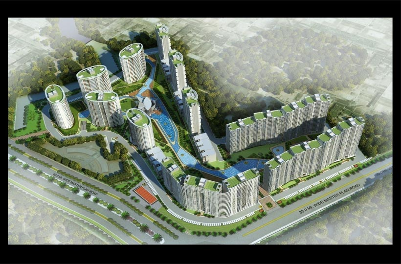 Omaxe The Lake site Layout New Chandigarh