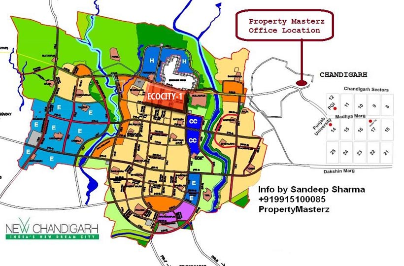 NEW CHANDIGARH LOCATION MAP OF ECOCITY 1