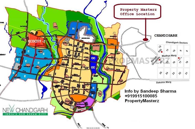 ECOCITY 2 LOCATION MAP NEW CHANDIGARH