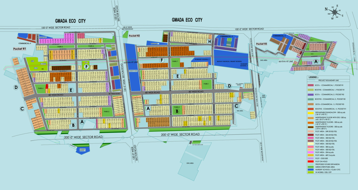 mullanpur new chandigarh dlf hyde park site layout plan