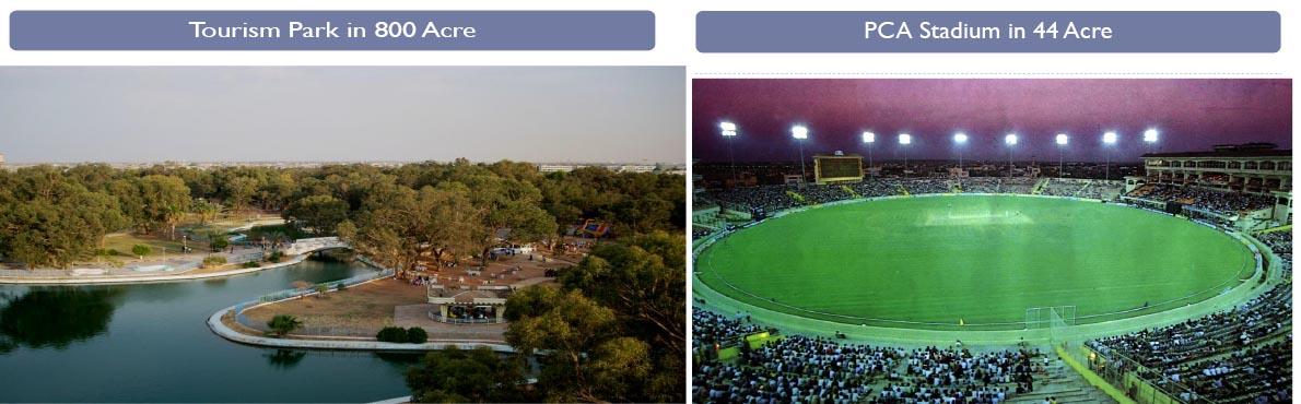 tourism park and cricket stadium new chandigarh