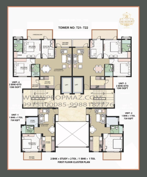 Omaxe the resort floor plans