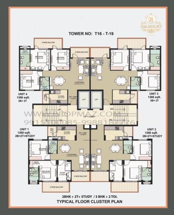 Omaxe the resort floor plans