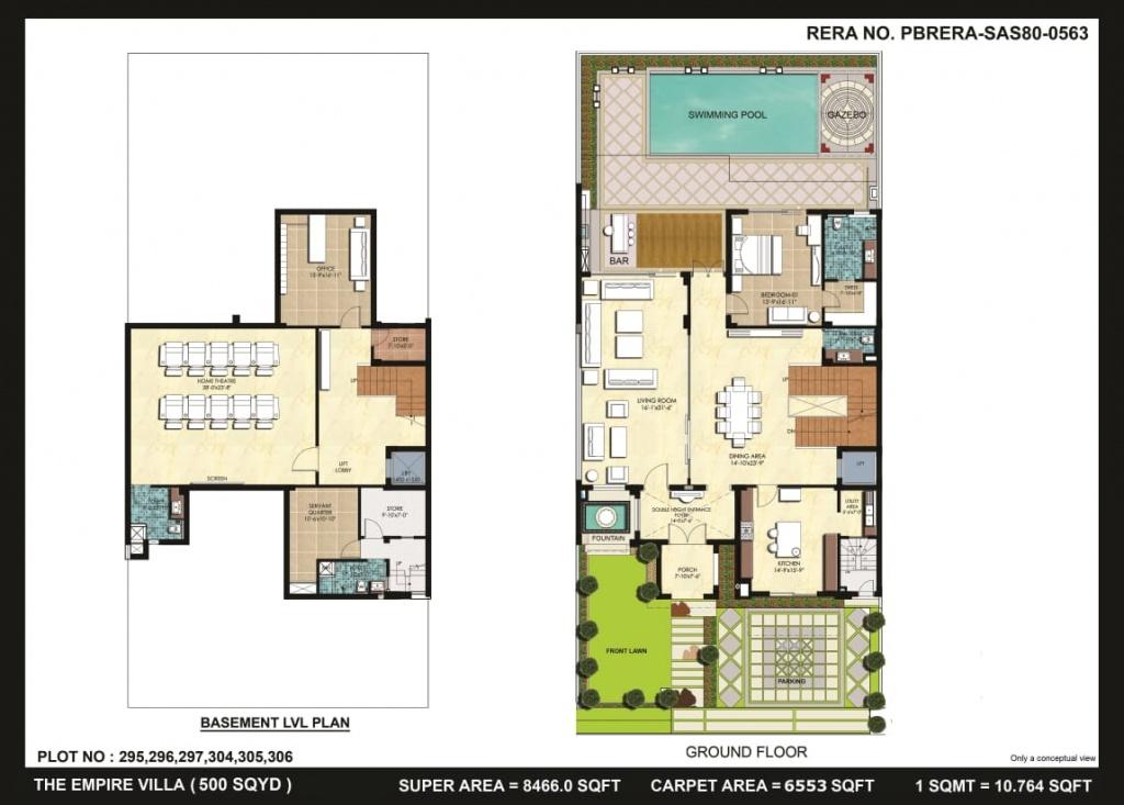 Omaxe empire villa floor layout