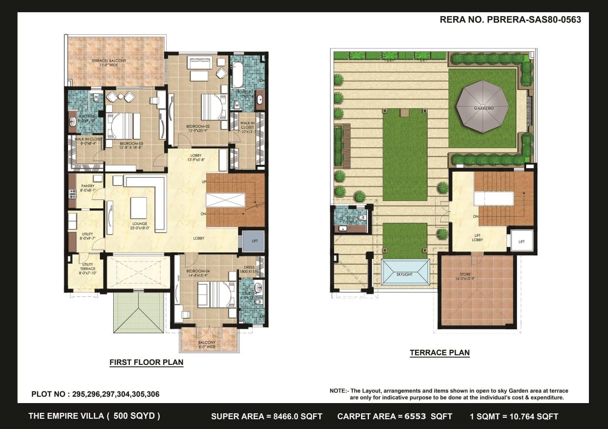 Omaxe Empire villas Floor plan